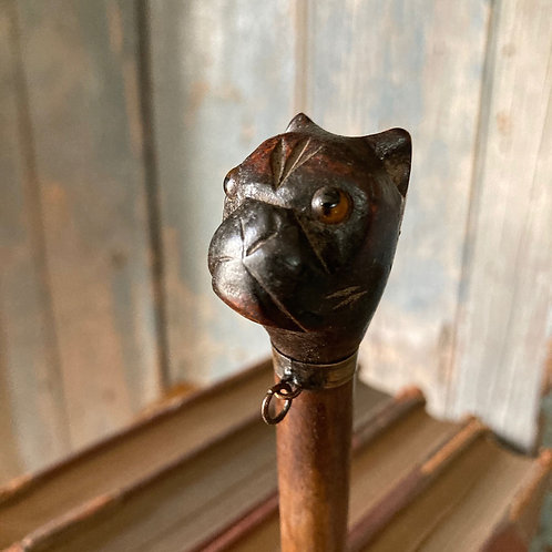NOW SOLD - Victorian Black Forest bulldog page turner