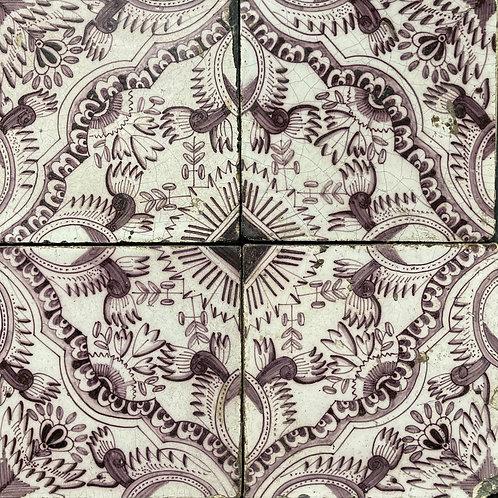 NOW SOLD - Four 18th century Delft tiles (set 2)
