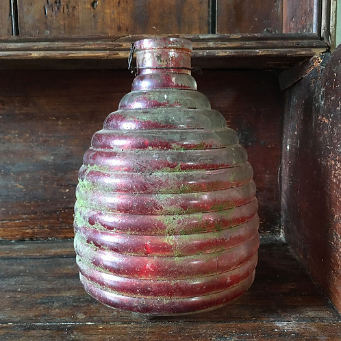 NOW SOLD - Vintage Glass Beehive Wasp Trap - red