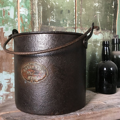 NOW SOLD - Vintage 'Royal Navy Mess' metal bucket