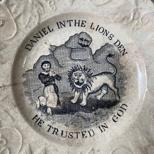 SOLD - 19th century child's nursery plate - 'Lion'