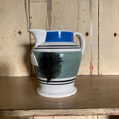 NOW SOLD - Antique mochaware jug (one pint)