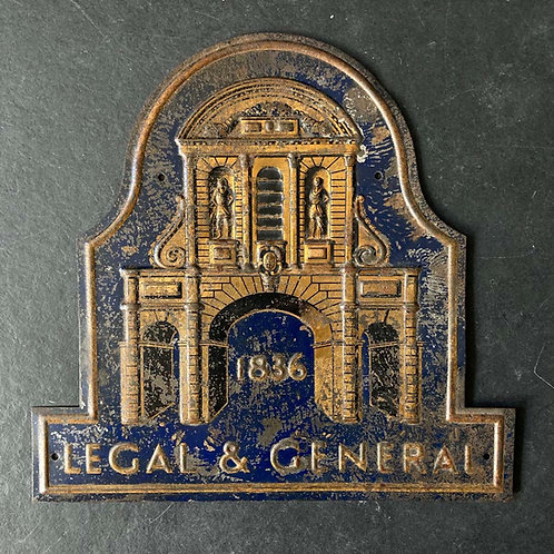 Edwardian 'Legal & General' insurance sign