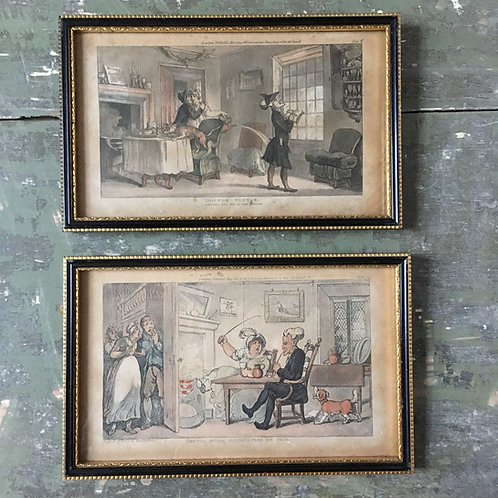 Pair of Rowlandson's 'Dr. Syntax' prints, c.1812