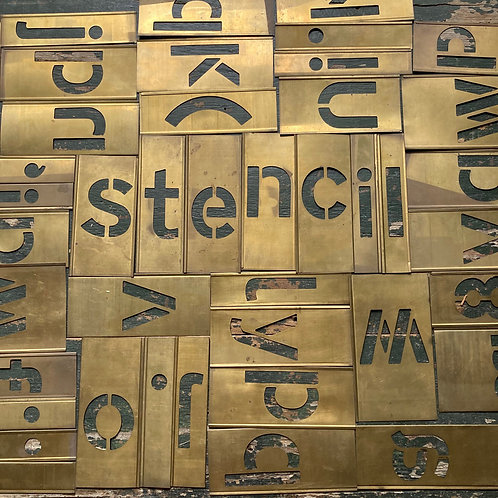 NOW SOLD - Mid-century typeface stencils