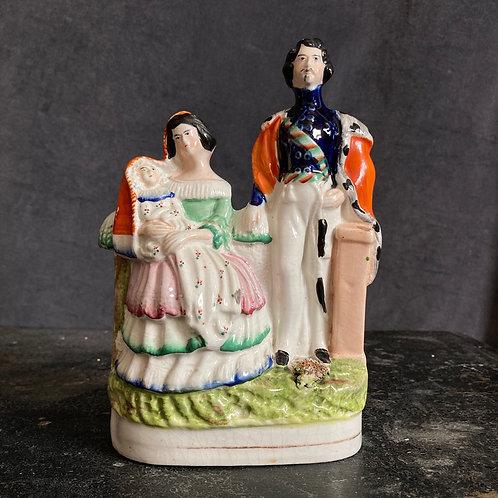 - SOLD - Antique Staffordshire pottery flatback - Victoria & Albert