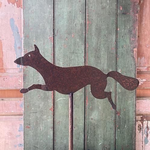SOLD - Antique folk art fox weathervane