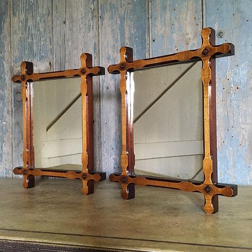 Edwardian mahogany chapel mirrors