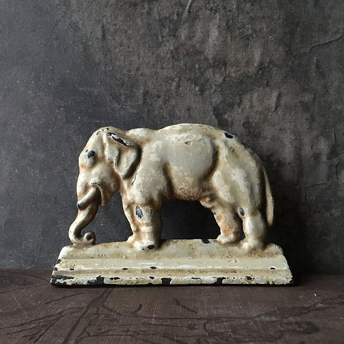 NOW SOLD - Victorian cast metal elephant