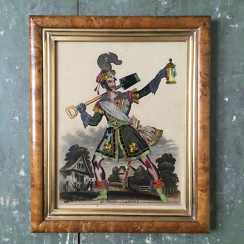 NOW SOLD Victorian Theatrical Tinsel Print 'Mr Wood as Landry'