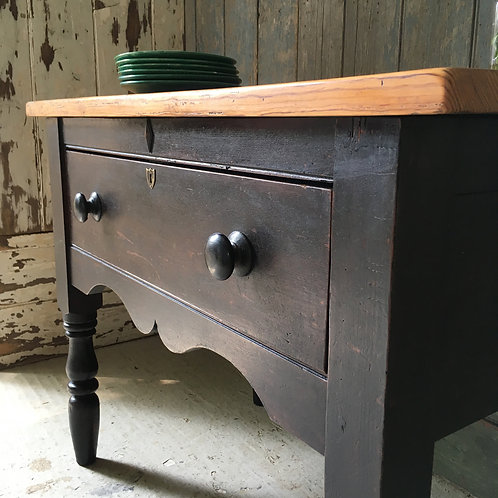 SOLD - Victorian pine side table