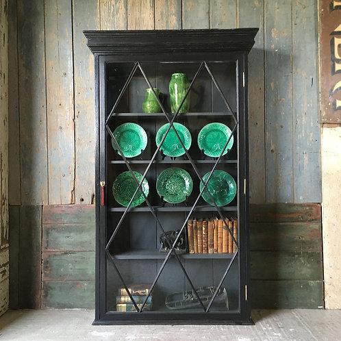NOW SOLD - Edwardian glazed bookcase cabinet