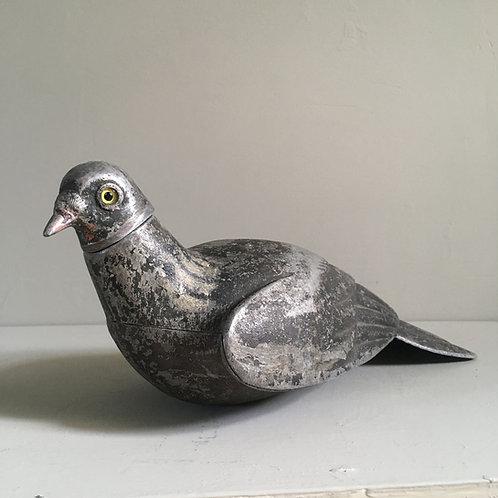 SOLD - Antique metal pigeon decoy - 'Tru-iss'
