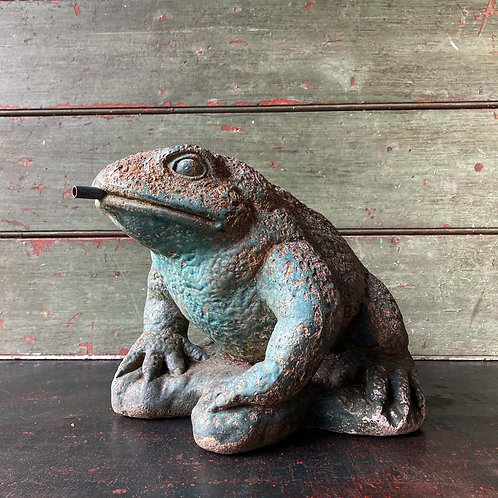 SOLD - Stone toad garden ornament
