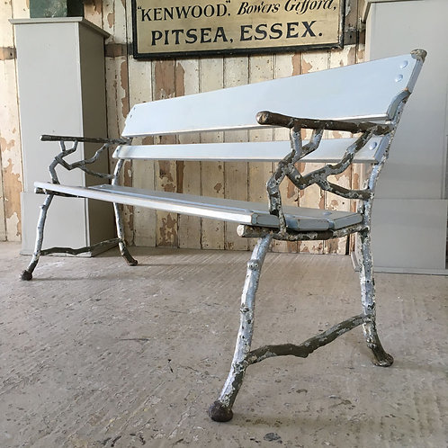 NOW SOLD - 19th C cast iron garden bench