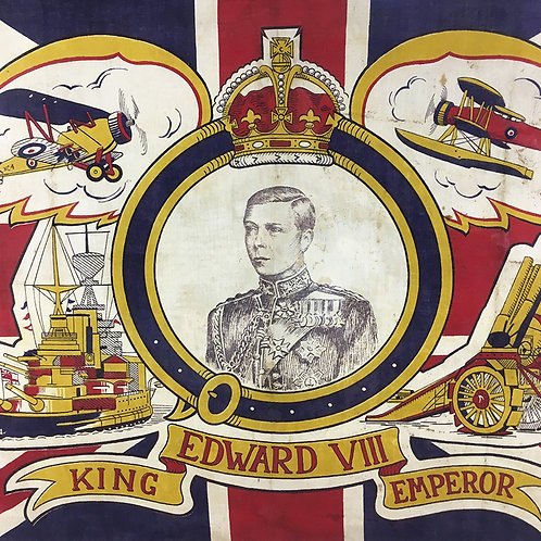 NOW SOLD - Edward VIII commemorative flag