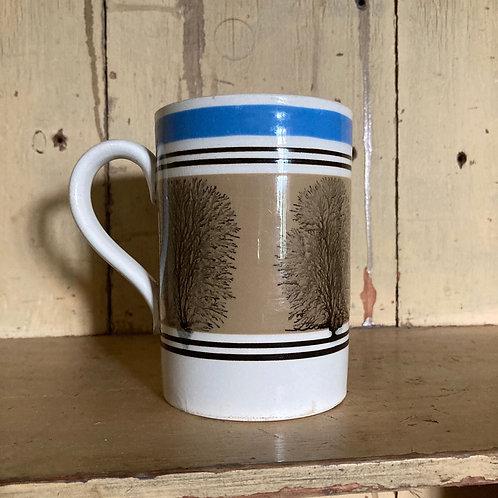 Antique mochaware mug (brown)