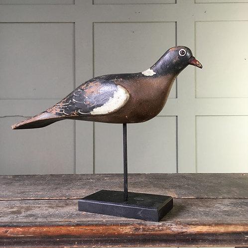 NOW SOLD - Vintage wood pigeon decoy - Harry Boddy