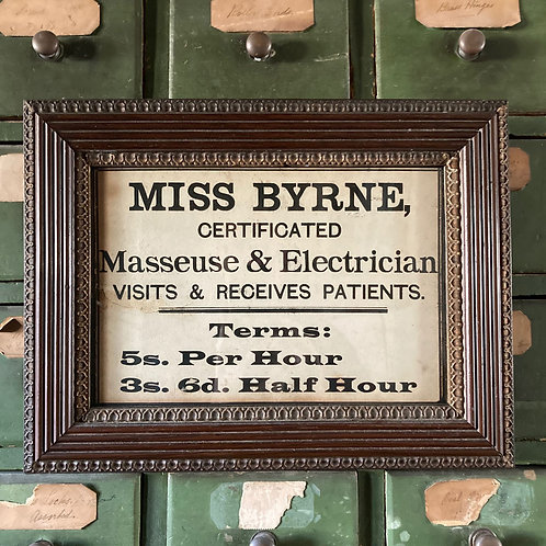 NOW SOLD - Edwardian trade advert sign