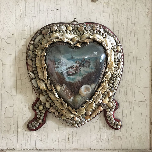 NOW SOLD - Victorian sailor's shell valentine - Grace Darling