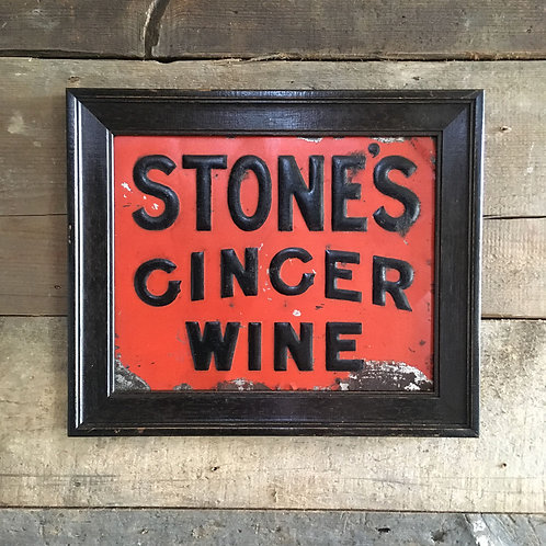 NOW SOLD - Stone's Ginger Wine tin sign