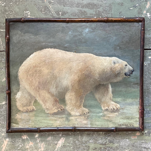 NOW SOLD - C. E. Swan oil painting - Polar Bear