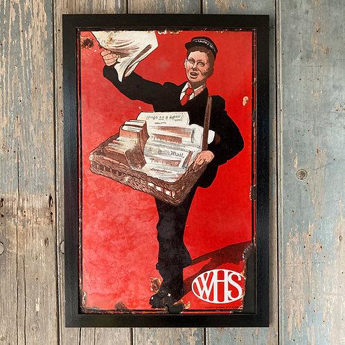 Vintage W. H. Smith enamel sign
