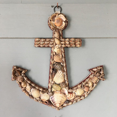 NOW SOLD - Vintage shellwork anchor