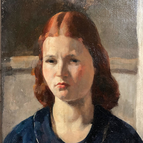 NOW SOLD - 20th Century British School oil portrait - Young Girl