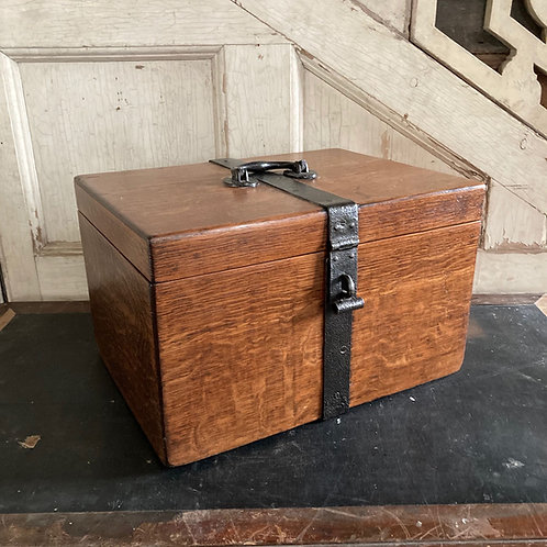 Country estate oak strong box