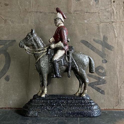 SOLD - Antique cavalry horse door stop