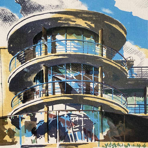20th century lithograph - 'Bexhill-on-Sea'