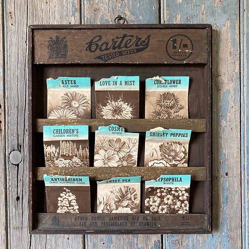 SOLD - Vintage Carter's Seeds shop display