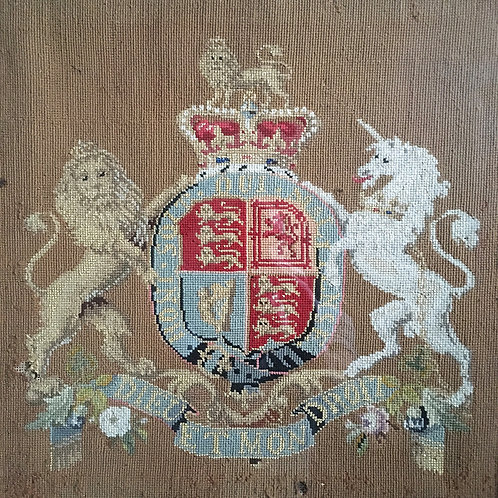 SOLD - Victorian Royal Coat of Arms