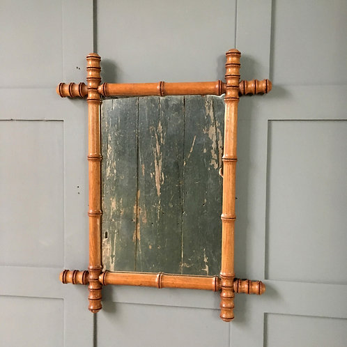 NOW SOLD - Vintage faux bamboo mirror - medium (3)
