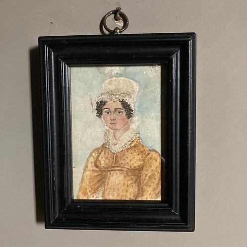Regency miniature portrait painting