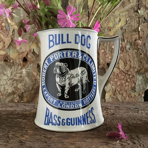 NOW SOLD - Bull Dog pub jug - Bass & Guinness