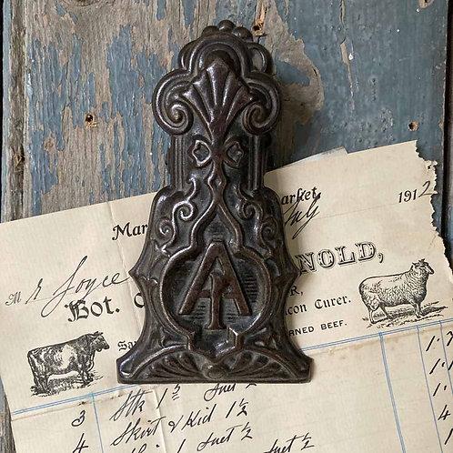 SOLD - Victorian correspondence paper clip