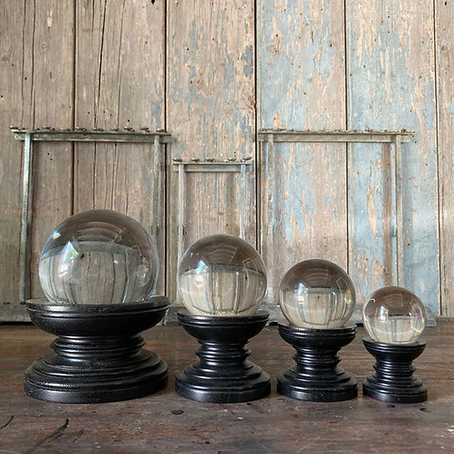 NOW SOLD - 4 crystal balls on stands