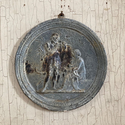 SOLD - 19th C. Classical lead plaque
