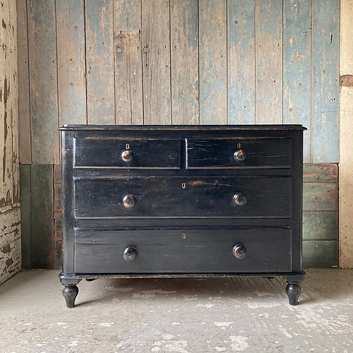 NOW SOLD - Victorian ebonised chest of drawers