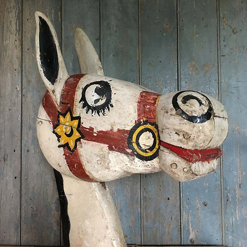 NOW SOLD - Wooden fairground 'Muffin the Mule' head