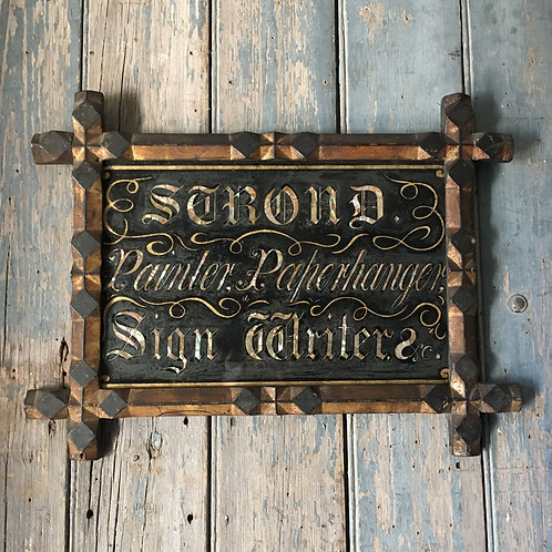 NOW SOLD - Victorian signwriter's trade sign - 'Strond'