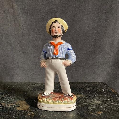 Antique Staffordshire pottery - 'Fat Sailor'