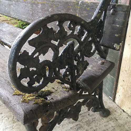 RESERVED - Victorian cast iron garden bench - ivy
