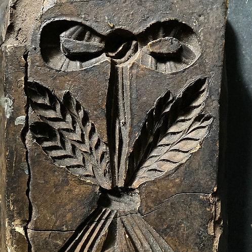 Georgian plaster decorative mould - 'Wheatsheaf'