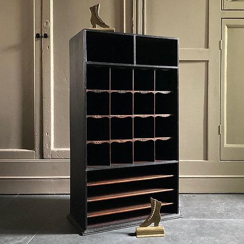 Victorian pigeon hole shelf cabinet