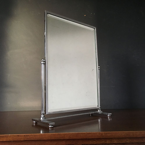 NOW SOLD - Modernist chrome vanity mirror