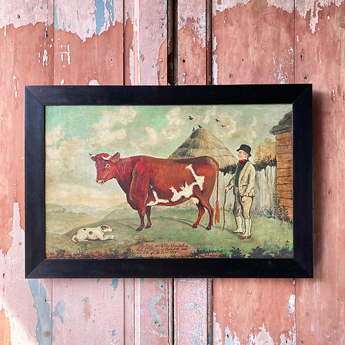 Naive school dairy cow painting