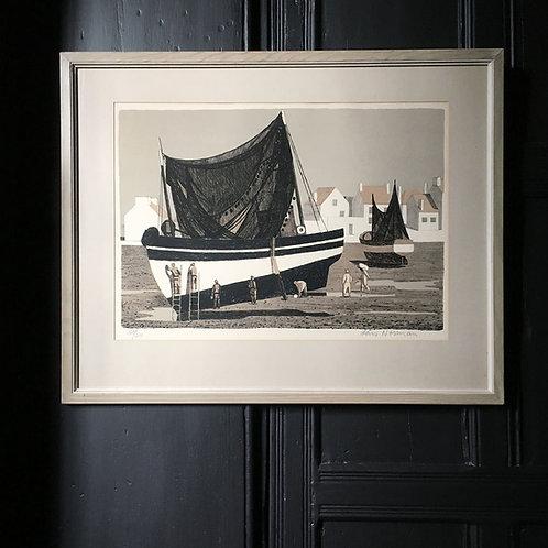 NOW SOLD - Swedish fishing boat print